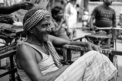 Laborer on Break (anthonypond) Tags: dxo 50mmsummilux kolkata bw leicam10 calcutta india