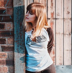 Ellie Trackside (;-) SHAGGY) Tags: trackside studio studios model girl streel cool t shirt face rock roll ellie she beauty beautiful now urban sun harsh light look hair wind