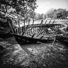 Rests (Italian Film Photography) Tags: delta400 ilford lca120 wreck boat wood rotten abandoned decay ancient blackandwhite biancoenero bw film analog pellicola 120 mediumformat lomo square barca legno marcio sunken decadenza abbandono rottami rests relitto flickrelite
