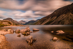 Wastwater LE (selvagedavid38) Tags: fells wastwater lake district kirk neutral density cumbria hills sky water stone filter slope scree