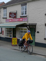 Cliff only went in for a sandwich - honest ! (DP the snapper) Tags: knockin shop cyclist amusing numptyweekends people