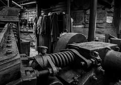 Tin Mill interior, Geevor Mine (Rogpow) Tags: cornwall geevormine mine pendeen tin tinmine cornishmining cornishmines cornishminingworldheritagesite metalmining metalmine museum blackandwhite blackwhite bnw bw whiteandblack mono monochrome tools machinery industrialhistory industrialarchaeology industrial industry
