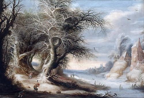 IMG_3009R Gysbrecht Lytens. 1586-1650. Anvers Paysage d'hiver. Winter landscape 1600s Nancy Musée des Beaux Arts