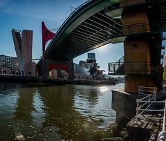 Puente de La Salve y su amigo, el Guggenheim (dnieper) Tags: puentedelasalve elguggenheim ríadebilbao ríadelnervión panorámica bilbao