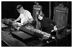Pita & Nik Colk Void @ The New Arts & Music Programme at Sutton House, 8th September 2018 (fabiolug) Tags: pita peterrehberg nikcolkvoid duo synth synths synthesiser modularsynth modularsynthesiser experimental avantgarde thenewartsmusicprogramme newartsmusicsuttonhouse suttonhouse idaprojects careinthecommunity careinthecommunityrecordings london hackney music gig performance concert live livemusic leicammonochrom mmonochrom monochrom leicamonochrom leica leicam rangefinder blackandwhite blackwhite bw monochrome biancoenero zeisscsonnartf1550mmzm zeisszm50mmf15csonnar zeisscsonnar zeisssonnar zeiss sonnar 50mm sonnar50mm 50mmf15