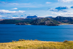 The exotic mixture of Sea and Mountains. (Geordie_Snapper) Tags: canon5d4 canon2470mm coasthouse coiredearg gruinardbay laide landscape me scottishhighlands secondcoast september summer sunnywithclouds
