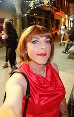 Night out selfie (eileen_cd) Tags: selfie redblouse outside dublin crossdresser transvestite cd tv
