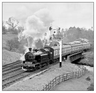 Lambton tank No. 5 leaving Goathland, North York Moors Railway