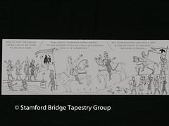 Panel 8 design (Stamford Bridge Tapestry Project) Tags: tapestry stamfordbridge battleofstamfordbridge 1066 design drawing