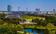 München2018-103Olympiapark (schulzharri) Tags: münchen munich deutschland germany bayern bavari olympia stadion arena park sun sky sonne himmel blau see wasser water sea lake
