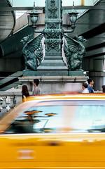 Guardian of Nihonbashi (sapphire_rouge) Tags: 東京 日本橋 tokyo nihonbashi ukiyoe kirin beast 広重 guardian 麒麟 hiroshige