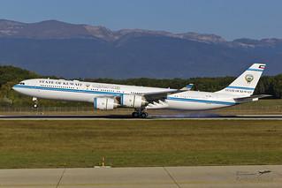 9K-GBA . Airbus A340-541 . State of Kuwait . Geneva International Airport [GVA/LSGG]