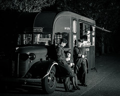 NAAFI Wagon (Dan Elms Photography) Tags: bombercounty eastkirkby justjane lancasterbomber lincolnshireaviationheritagecentre timelineevents airfield airshow aviation canon danelms danelmsphotography spin raf talldan76 timeline lincoln plane naafi truck reenactor mono monochrome blackandwhite blackwhite