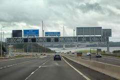 Forth road bridge (Peter Trott) Tags: bridge traffic motorway scotland