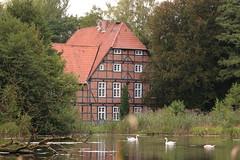 manor house of NABU Gut Sunder (cangarw) Tags: manorhouse nabu nabugutsunder nature pond sigma canon swan forest trees north water