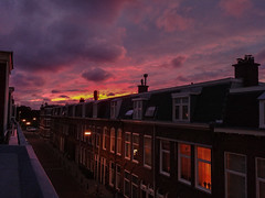 On one side (Lisa RT.) Tags: photography sky sunset outdoor view window smartphone netherlands nature landscape colors weather lg architecture cloud city dusk
