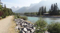 Path Along Bow River and Canadian Rockies, Canmore, Alberta, Canada (dannymfoster) Tags: canada alberta canmore rockies rockymountains river bowriver