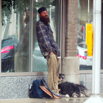 #HomelessinINDY and waiting for the rain to stop. thumbnail