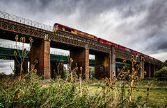66005 on Sharnbrook Viaduct (robmcrorie) Tags: 66005 66 class sharnbrook viaduct river bridge moreton lugg radlett ouse