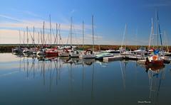 Tranquilité / Tranquility (1-2) (deplour) Tags: marina bateaux voiliers boats sailboats capdecocagne cocagnecape reflets reflections