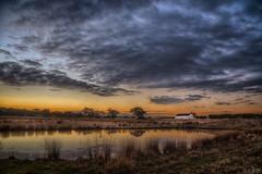 Wonders Never Cease DSC_7791 (BlueberryAsh) Tags: landscape sunset craigieburn paddock dam cloudsstormssunsetssunrises clouds grass syrianchurch church nikond750 nikon24120 water reflection