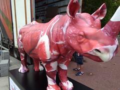 UK - London - Whitehall - Tusk Rhino Trail - Rhinoceros (JulesFoto) Tags: uk england london trafalgarsquare rhino sculpture tuskrhinotrail rhinoceros