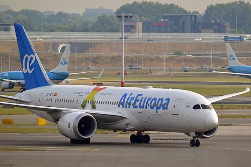 "Air Europa EC-MLT Boeing 787-8 Dreamliner cn/36414-482 Painted in ""Nicky Jam X J Balvin's"" special colours @ EHAM / AMS 13-08-2018"