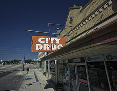 City Drug (Rusty Irons) Tags: newmexico neon sign old decay abandoned small town city america west downtown urban color