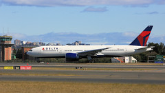 DELTA 777 (Jungle Jack Movements (ferroequinologist)) Tags: delta boeing 777 232 lr taxiway sydney kingsford smith airport lax los angeles dl 40 34l 16r new south wales nsw mascot us usa america fly flying flown trip passenger wing airborne rapid takeoff land touchdown jet airplane aeroplane aircraft journey aerial inflight landing plane airliner wind sky turbulence aisle window captain crew terminal gear 飞机飛行機 самолет aereo avion aerobatics squadron raaf fuselage altitude pilot navigator radar yssy