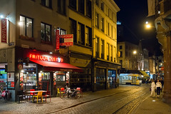 2018.08.22_12365_Antwerpen_DeLijn 7001 (rcbrug) Tags: delijn frituur antwerpen frituurtstad pcc keien avond melkmarkt nightview tram tramline