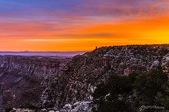 Fiery Re-birth (ProPeak Photography - Thanks for 900,000 views!) Tags: america arizona blue buildings canyon clouds colors desertview famousplace grandcanyon iconic internationallandmark nps nationalpark nature navajopoint northamerica orange purple red southrim spring sunrise texture touristattraction traveldestination travelandtourism trees unescoworldheritagesite usa watchtower yellow