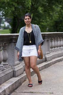 Black and White Kimono, Denim Cut-off Shorts, Round Straw Bag-1.jpg
