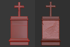 Tombstone - Back -  Low Game Opt. & High Poly (Aloe [Alli Keys]) Tags: