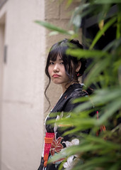 Young woman in Yukata waiting for someone (Apricot Cafe) Tags: img47920 asia asianandindianethnicities canonef85mmf18usm healthylifestyle japan japaneseethnicity kagurazaka kimono tokyojapan anticipation beautifulwoman blackhair candid carefree charming cheerful colorimage copyspace day enjoyment fashion greencolor happiness leisureactivity lifestyles longhair mouthclosed nature oneperson oneyoungwomanonly onlyjapanese outdoors people photography realpeople relaxation selectivefocus smiling summer sustainablelifestyle traditionalclothing travel vacations waistup waiting wall women youngadult yukata shinjukuku tōkyōto jp
