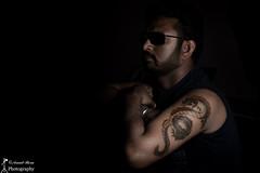 Tattoo Art Design, Self Portrait, Low Key Photography (Arnab Bera) Tags: juthika tattooartdesign selfportrait lowkey arnab