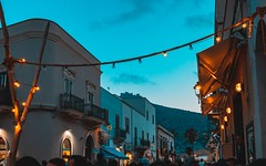"The bar ""Camarillo Brillo"" in Favignana (massimo.leonardi) Tags: sky lamp cocktails lights night bar travel sunset favignana sicily italy"