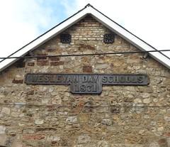 Wesleyan Day Schools, Park Street, Blaenavon, Pontypool 29 August 2018 (Cold War Warrior) Tags: iron sign school 1871 blaenavon pontypool