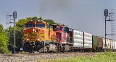 Between the signals (Kool Cats Photography over 10 Million Views) Tags: locomotives landscape locomotive train tracks transportation signals railroad oklahoma bnsf sky