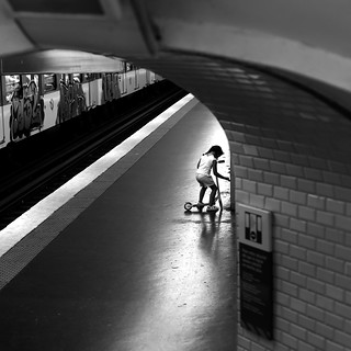 In the subway's light