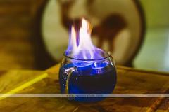 Flaming Brew - Platform 1094 - Singapore (Naomi Rahim (thanks for 4 million visits)) Tags: harrypotter singapore 2018 travelphotography travel nikon nikond7200 food foodphotography bokeh lowlight drink cocktail flames blue creative 35mm