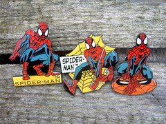 Spider-Man Enamel Pins (The Moog Image Dump) Tags: marvel 8th wonder limited 2002 spiderman enamel pins spider man super hero badge