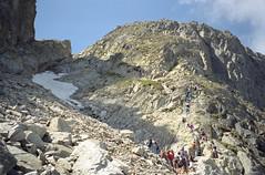 1998-08-06 Way to Mountain Saddle (beranekp) Tags: slovak slovakia high hohe tatra vysoké tatry mountains saddle pass priečne sedlo