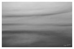 Calmly (GR167) Tags: x100 icm monochrome blackandwhite dreamy landscape seascape intentionalcameramovement