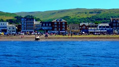 Scotland West Coast the paddle steamer Waverley arriving at Largs video 1 July 2018 by Anne MacKay (Anne MacKay images of interest & wonder) Tags: scotland west coast clyde sea paddle steamer waverley largs town pier building buildings video 1 july 2018 by anne mackay