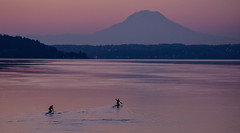 Morning sunrise (c kasperbauer) Tags: rainier mountain ocean canoe paddle sea sunrise