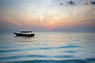 Sunrise with Boat, Zanzibar