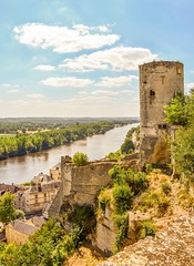 View on the river Vienne (Babethaude) Tags: fortress tower architecture indreetloire indreriver landscape monument panorama touraine valleyofloire building medieval