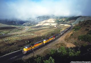 Coal Train on a Misty Morning
