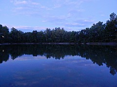 Blue hour Rockliffe Pond 2 (Pwern2) Tags: bluehour perspective rockliffee thepond lake water clouds wood forest trees serene tranquility peace reflection cottoncandyclouds shoreline erosion cityofottawa ottawa urbanbeauty leisure swimming beauty sky cloud