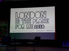 15th September 2018 (themostinept) Tags: britishlibrary londonistheplaceforme 2018 poetry london nw1 camden 96eustonroad kingscross lintonkwesijohnson screen projection stage michaelsmith